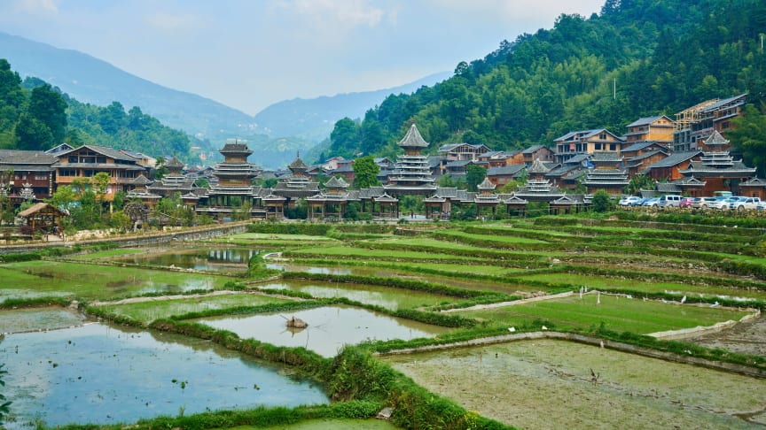 A village in the Province of Guizhou, China