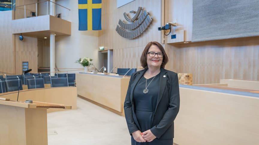Andre vice talman Lotta Johnsson Fornarve (V) besöker Värmland 23 och 24 augusti. Foto: Anders Löwdin/Sveriges riksdag.