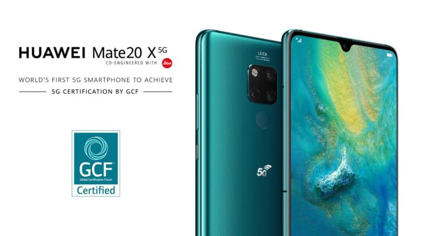 Huawei Mate 20 X 5G världen första mobila enhet att uppnå 5G certifikation av GCF)