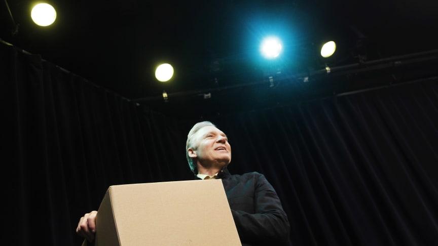 Lennart Eriksson i rollen som Sufflören, skriven av Andreas T Olsson.