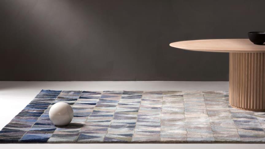 ASPLUND Collection NEWS 2018: Wedge carpet by Marie-Louise Hellgren, Palais Ovale by Anya Sebton and Eva Lilja Löwenhielm. Photo by Louise Billgert.
