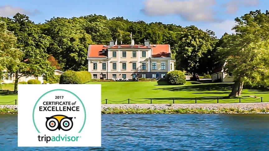 Krägga Herrgård tilldelas utmärkelsen TripAdvisor® Certificate of Excellence 2017