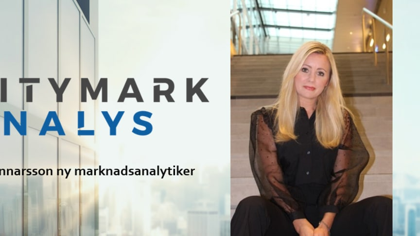Cecilia Gunnarsson ny marknadsanalytiker på CityMark Analys