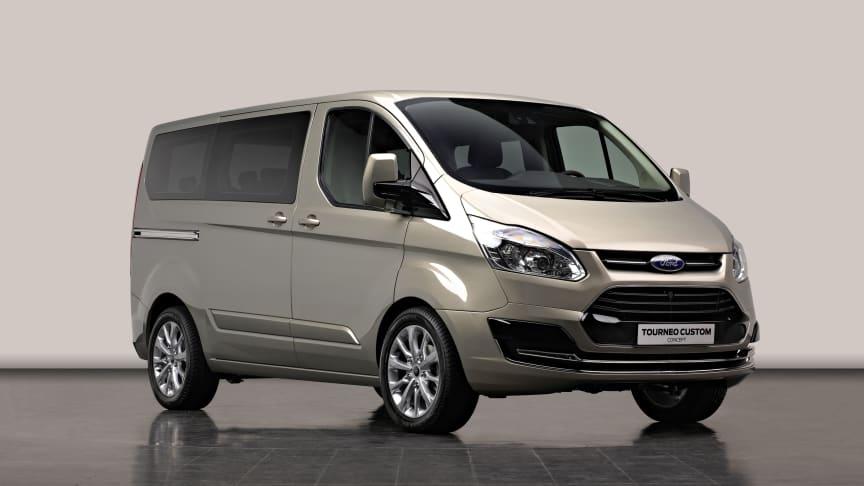 Den dynamiska konceptbilen Ford Tourneo Custom gör sin världsdebut på 2012 års bilmässa i Genève