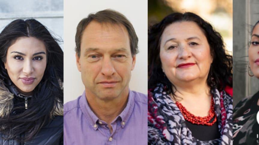 Melody Farshin, Örjan Hemström (foto: privat), Irene Molina (foto: privat) och Emma Dominguez (foto: Maryam Dinar)