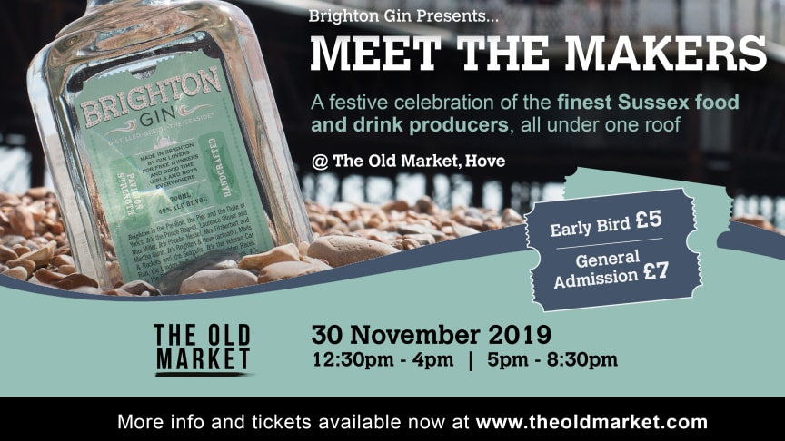Brighton Gin presents: Meet The Makers Promo Flyer