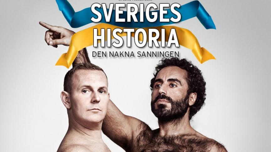"""Biljettrusning till föreställningen """"Sveriges Historia – """"den nakna sanningen"""", extra föreställning sätts in i Göteborg i december."""
