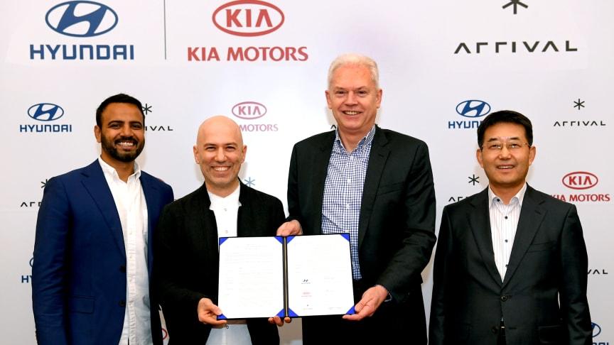 KIA har sammen med Hyundai investeret i alt 100 mio euro i Arrival - for at imødekomme den hurtigt voksende efterspørgsel af miljøvenlige erhvervskøretøjer i Europa
