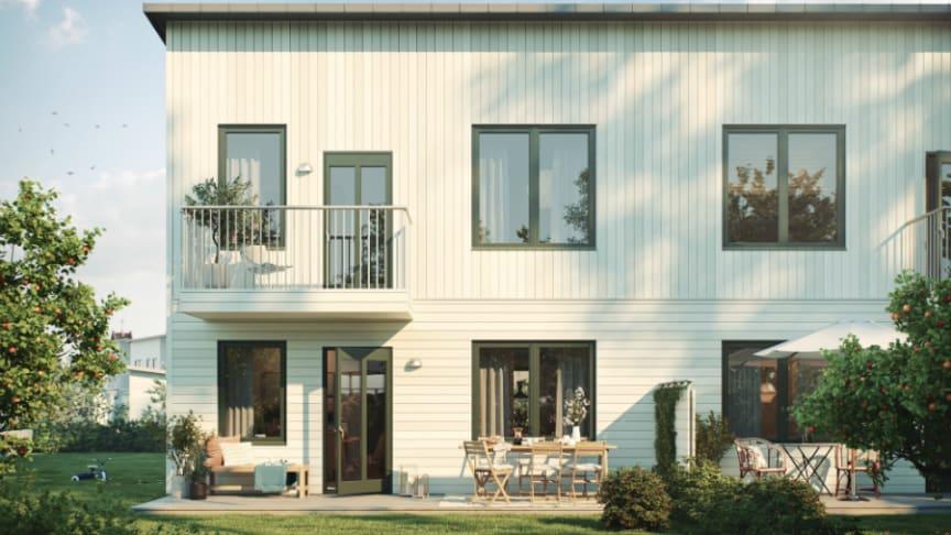 Riksbyggen säljstartar radhus i Gamla Uppsala