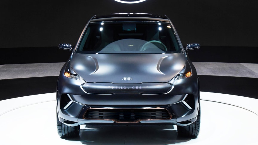 Kia Niro EV Concept på teknikmässan CES 2018.