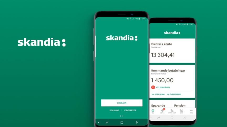Smart Refill releases new version of Skandiabanken's app Mobilbanken