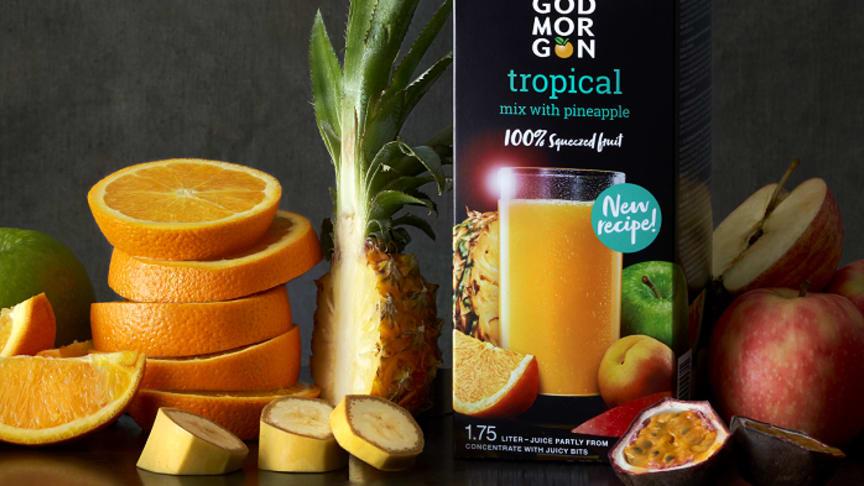 God Morgon® Tropical lanseras v.8 hos ICA, Coop och City Gross.