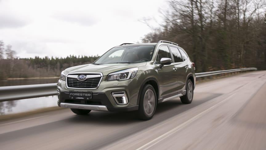 Nya Forester e-Boxer får toppbetyg i Euro NCAP