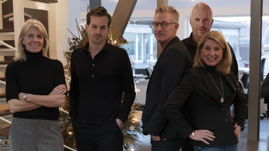 Från vänster: Marie Schnell Carlén, Ludvig Ehrenstråhle, Niklas Zhovnartsuk, Petteri Lillberg, Christina Wihlner Lentell
