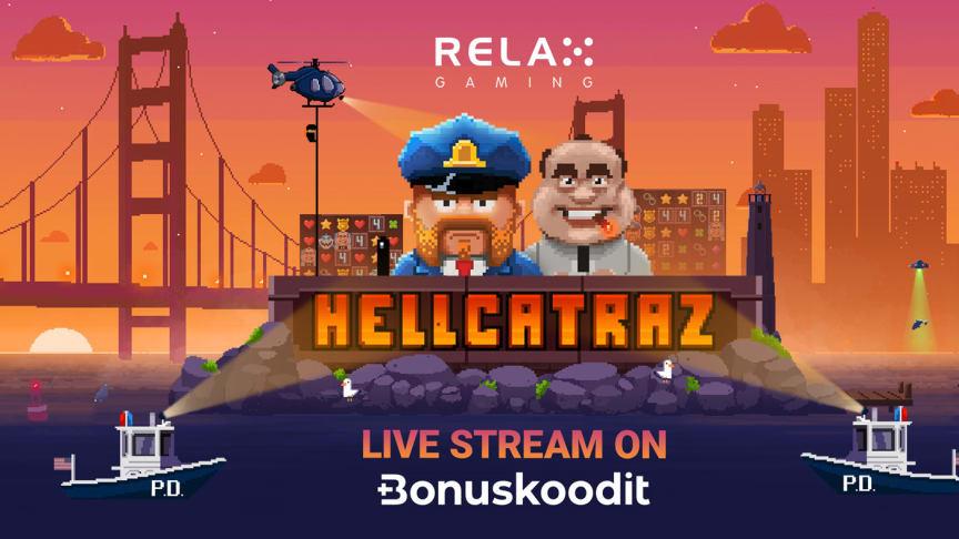 Bonuskoodit.com osallistuu Relax Gaming -pelistudion uusimman Hellcatraz-pelin julkaisuun