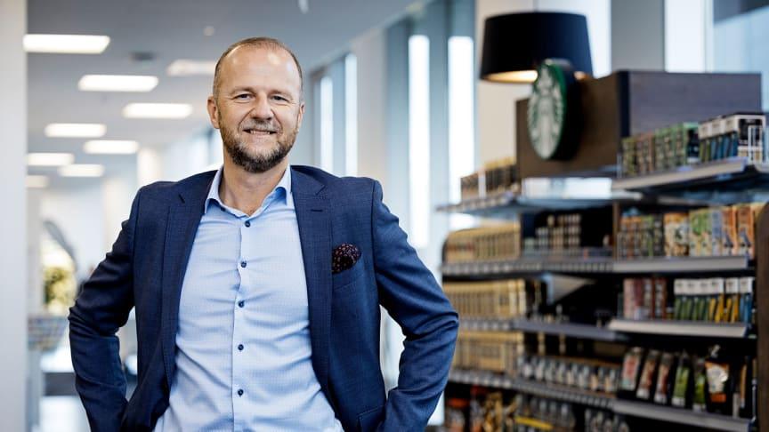 Nestlé Danmarks landechef, Thomas Blomqvist, siger, at Nestlés første halvår ikke kun har handlet om salg, men også om at deltage i debatten omkring fx madspild og ligestilling. (Foto: Søren Svendsen)