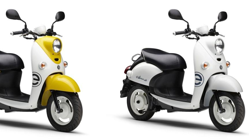 写真左より、「E-Vino」イエロー/ホワイト、「E-Vino」ホワイト