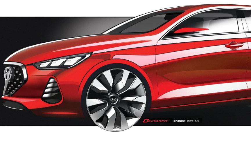En av skissene til nye Hyundai i30