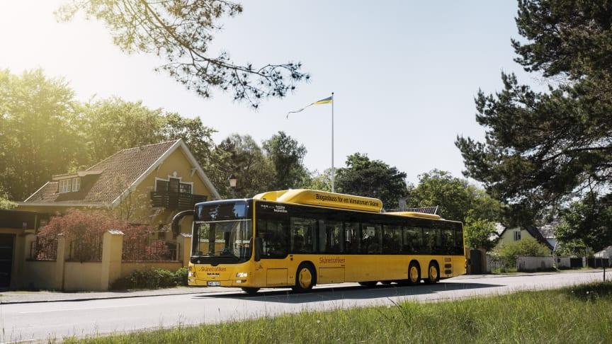 Skånetrafiken förväntar sig många resenärer till Skånes stränder i helgen.