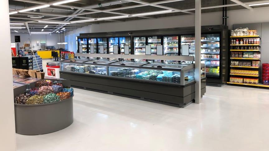 TESAB företaget installerar hållbar kyla i nyöppnad butik