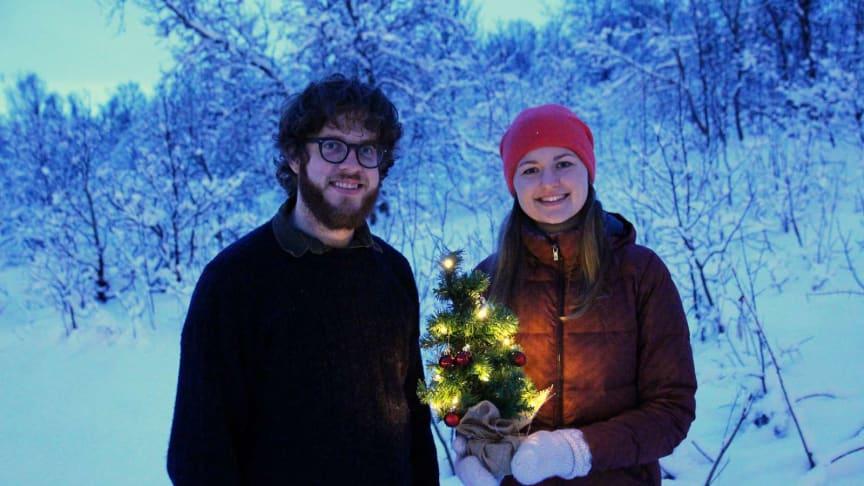To av de internasjonale studentene som feiret lokal jul i 2018
