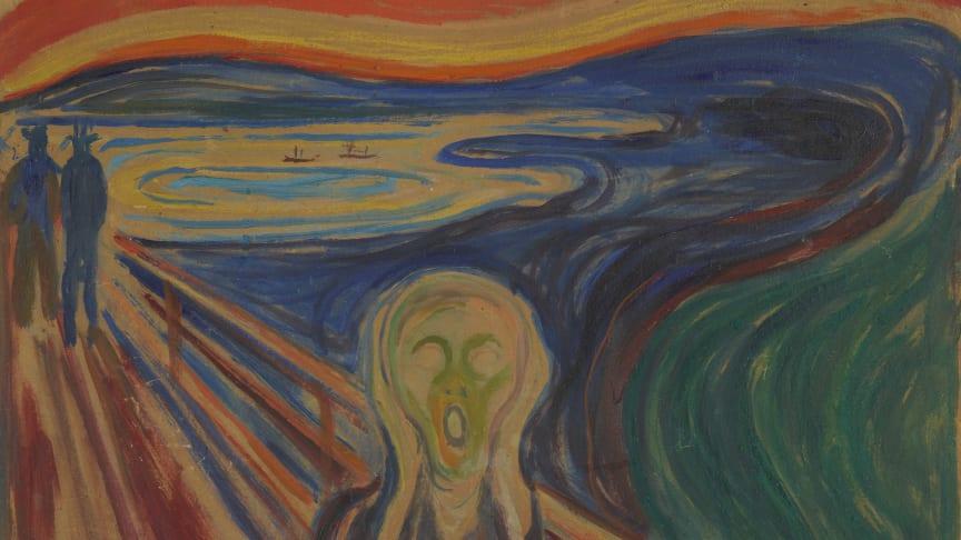 Edvard Munch: Skrik. Tempera og olje på ugrundert papp, 1910? Foto: Munchmuseet.