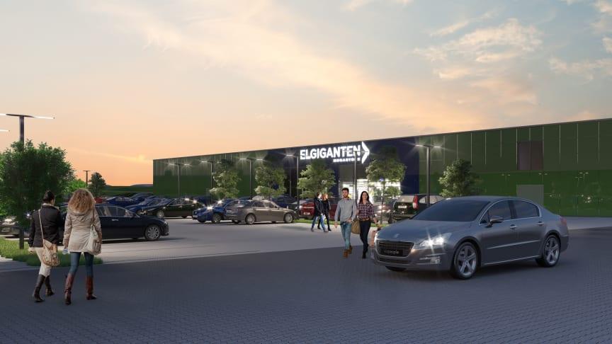 Fredag d. 16. november er Elgiganten klar til at løfte sløret for kædens hidtil største varehus, der kommer til at ligge på Karl Krøyers Vej 25 i Skejby ved Aarhus.