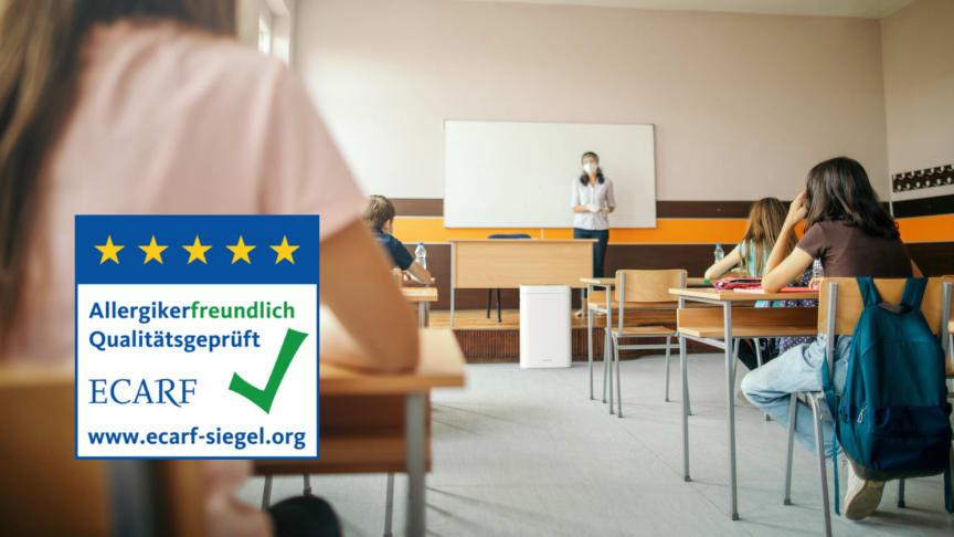 Gutachten der Berliner Charité bestätigt hochwirksame Leistung des AiroDoctor Luftreiniger, klare Empfehlung für Einsatz an Schulen