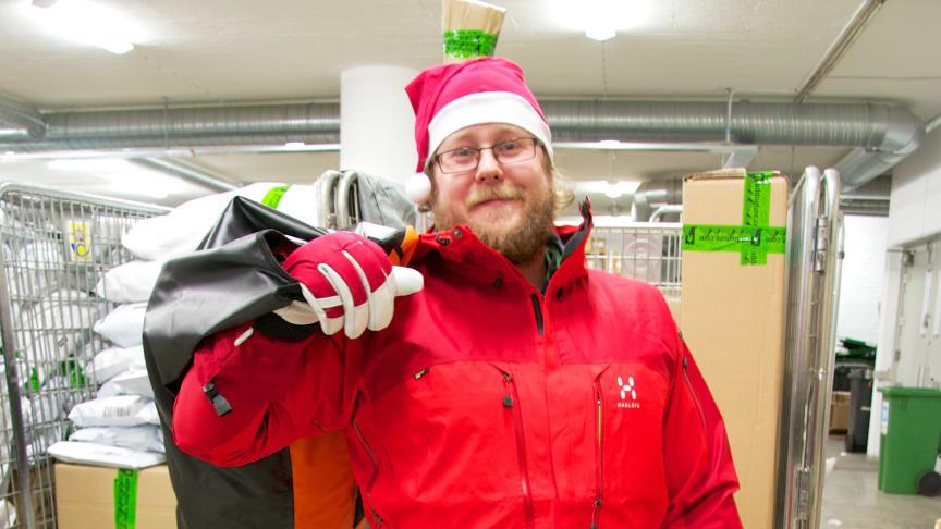 Så utrustar sig jultomten för att jobba julafton