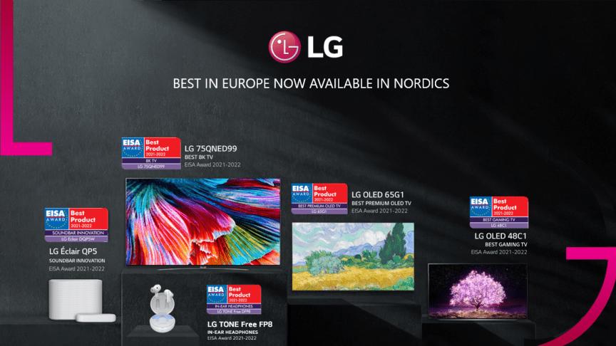 LG OLED prisas för tio år av tv-innovation vid EISA Awards 2021