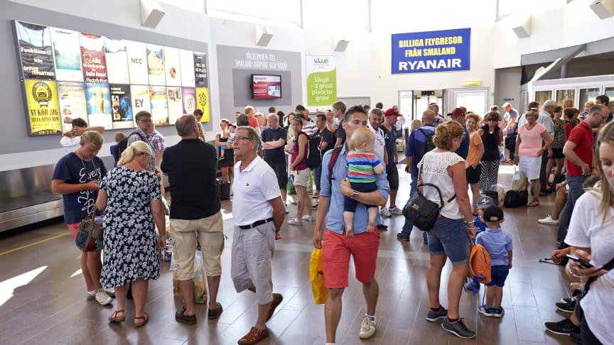 Stor passagerarökning under juni från Växjö Småland Airport