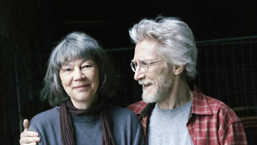 Lena och Olof Landström på Lunds stadsbibliotek 17 april