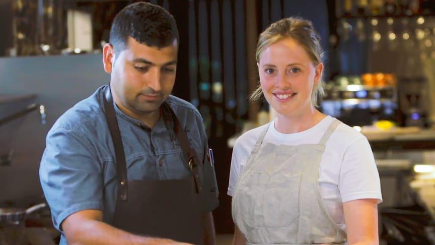 Provlagning med Josefin Agnas och Atay Rahimbeyli, kock på Noot.