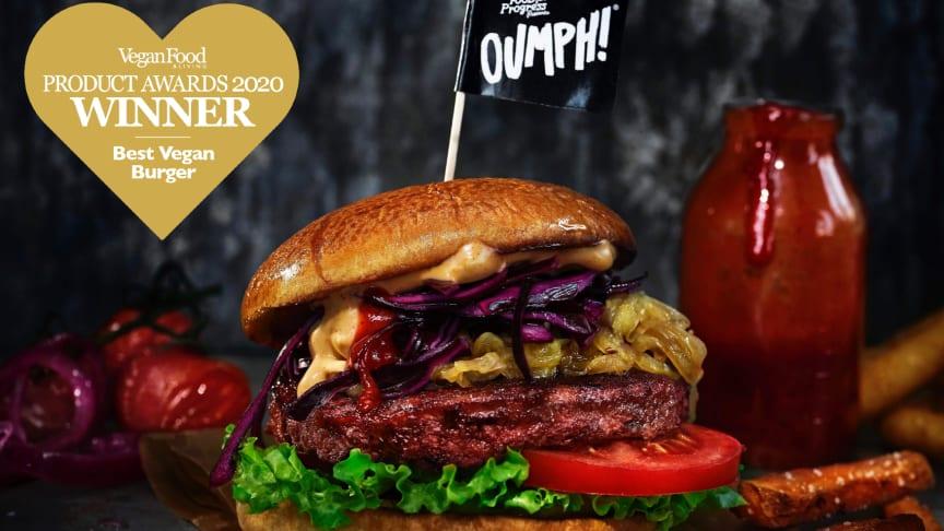 The Oumph! Burger awarded Best Vegan Burger