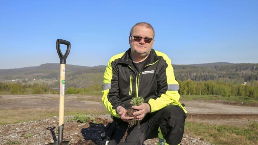 Det Eric Tjernberg på startup-bolaget Biocompost inte vet om kompostering är förmodligen inte värt att veta.  Foto: Katarina Lövgren