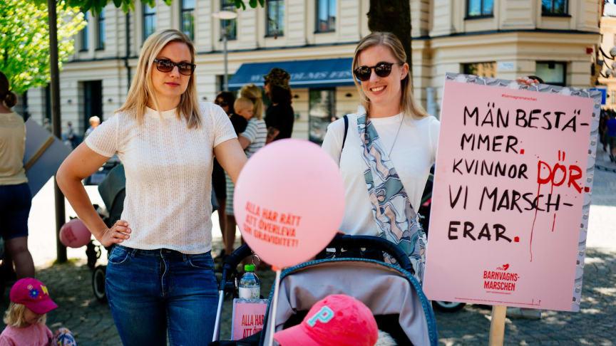 BMV 2018 Demonstranter och skyltar