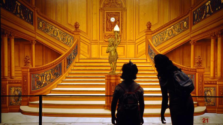 Bild på trappan i första klass på RMS Titanic