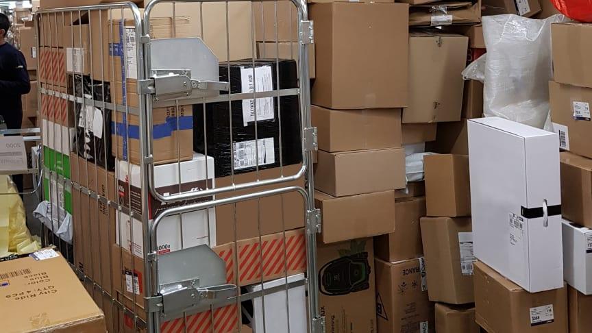 GLS PakkeShops bugner af pakker