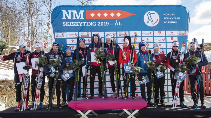 NM 2019: Norske skiskyttere må vente enda et år før de kan konkurrere i Norgesmesterskap igjen. Her fra Ål i 2019. Foto: Geir Olsen / NTB