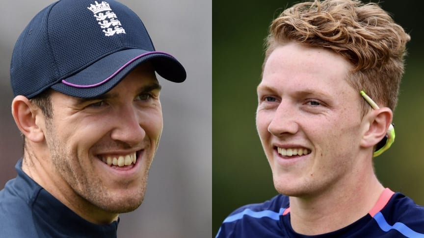 Somerset duo, seamer Craig Overton (left) and off-spinner Dominic Bess will join the England men's Test squad in South Africa (Getty Images)