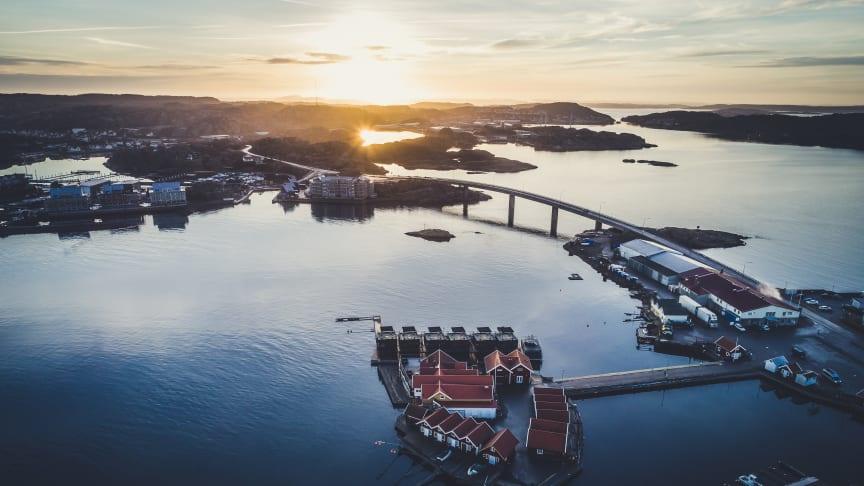 Soluppgång på Klädesholmen
