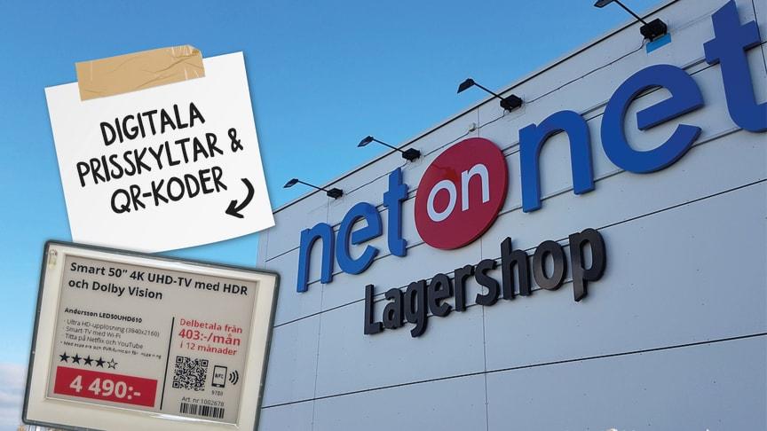 NetOnNet och Idnet AB har ingått ett samarbete som innebär att Idnet kommer att leverera elektroniska hyllkantsetiketter till NetOnNets Lagershoppar.
