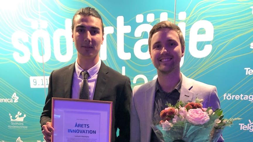 Ario Alipana och  Anton Wieselblad från Lokatt Helmets