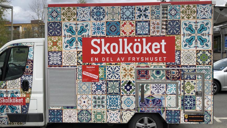 Skolköket – en del av Fryshuset, delar ut 7000 portioner mat i Järva, med stöd av Radiohjälpen och ICA Stiftelsen