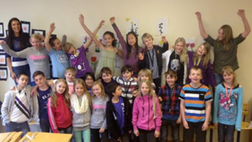 Elever från Sommarhemsskolan deltar i världsrekordförsök i läsning