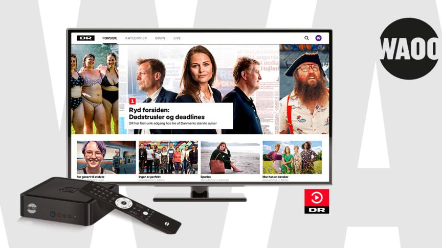 DRTVs nye univers nu på Waoos TV-boks