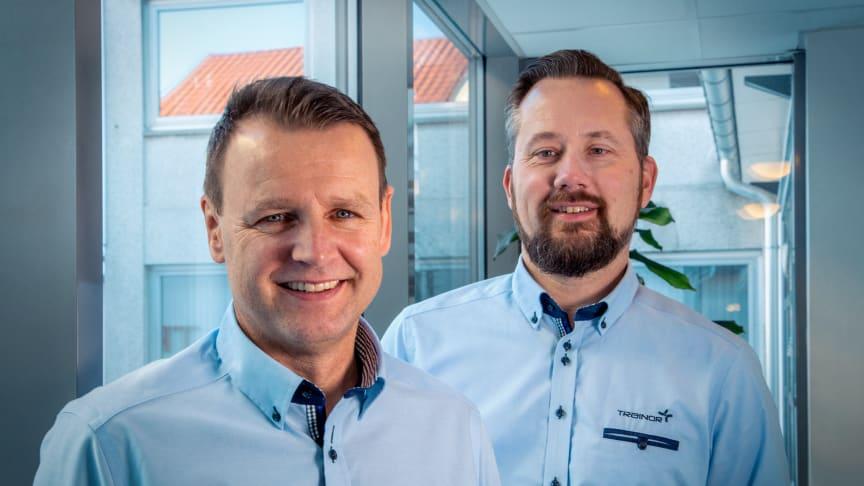 Morten Aasen (t.v) og Stian Martinsen i Trainor har fått en god start på året. Foto: Heidi Storm Middleton.