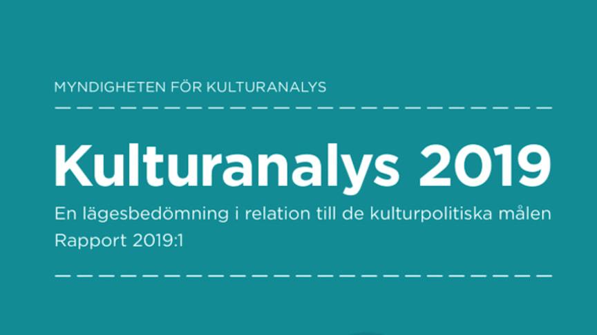 Kulturanalys 2019: Resurser och mål bör vara i balans