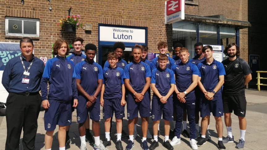 Luton Town Apprentices have been given free travel passes by Govia Thameslink Railway