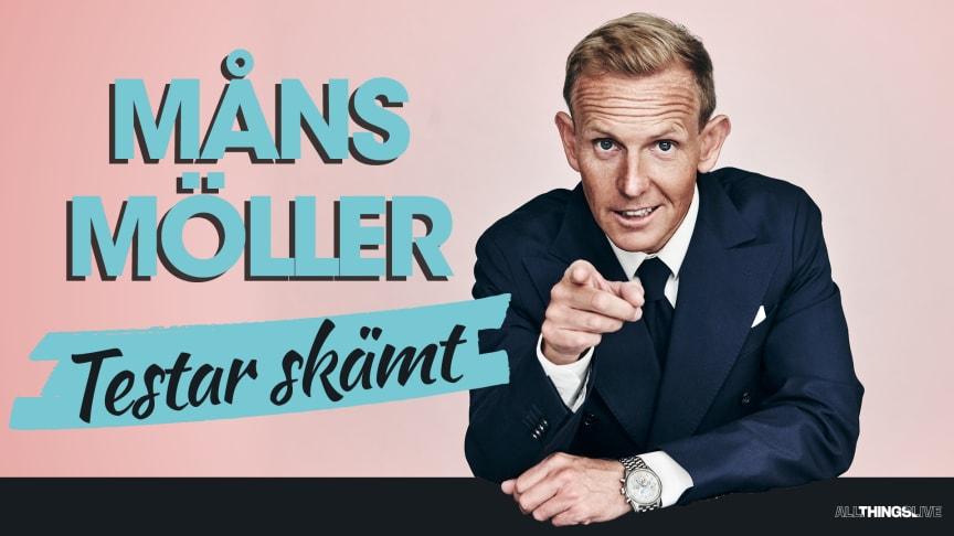 """Måns Möller """"Testar skämt"""" på miniturné premiär 16 oktober"""